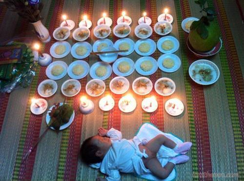 Cách cúng lễ đầy tháng bé trai đơn giản nhất