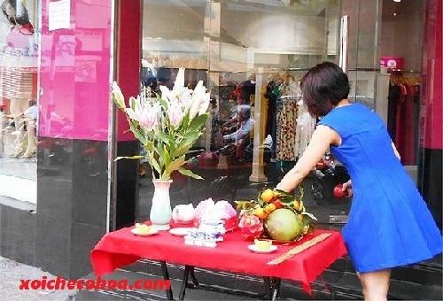 Hình ảnh minh họa cúng khai trương shop quần áo