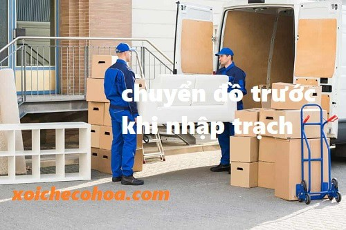 Hình ảnh minh họa đóng gói chuyển đồ trước khi nhập trạch