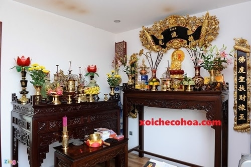 Hình ảnh minh họa vị trí bàn thờ khi cúng nhập trạch như thế nào?