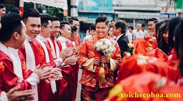 Hình ảnh minh họa mâm quả đám cưới người Hoa