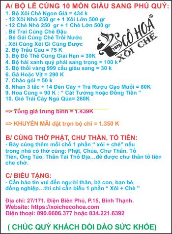BANG GIA XOI CHE CUNG THOI NOI