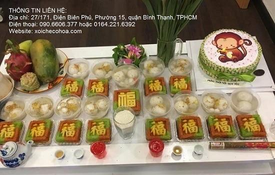 Hình ảnh mẫu nhận đặt xôi chè ngon tại Sài Gòn